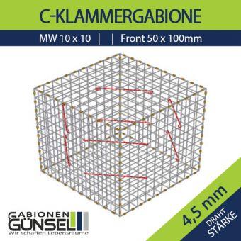 Gabione 150 x 100 x 100 Typ B Mw 10 x 10 cm