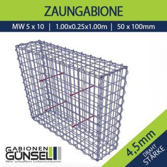 Zaungabione 100 x 25 x 100