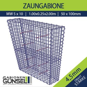 Zaungabione 100 x 25 x 180