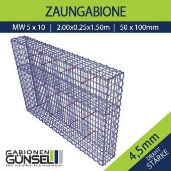 Zaungabione 200 x 25 x 150