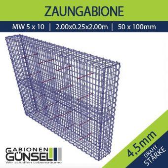 Zaungabione 200 x 25 x 200