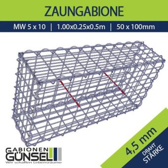 Zaungabione 100 x 25 x 50 Typ A